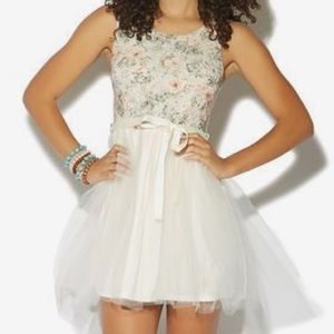 Wet Seal Floral Lace and Tulle Dress